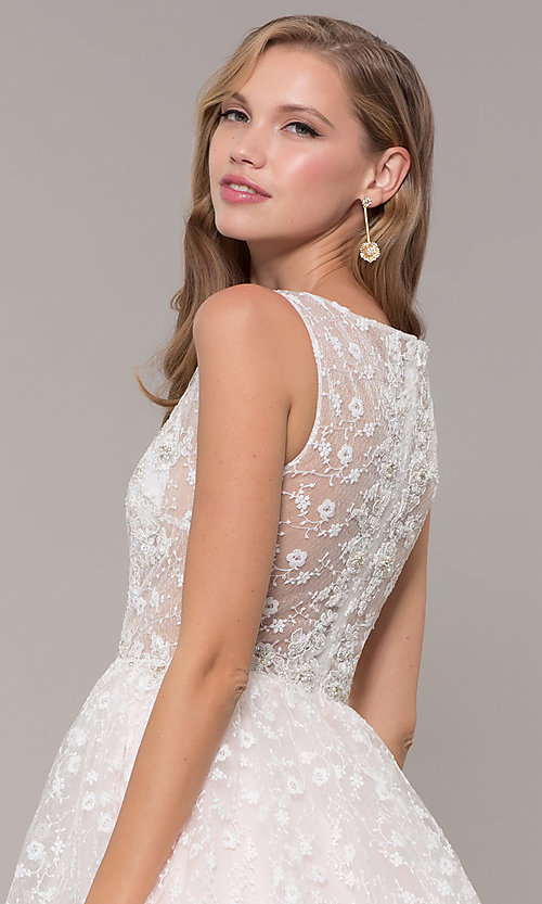 Image of long ball-gown-style bateau-neck prom dress.  Style: MF-E2701 Detail Image 2