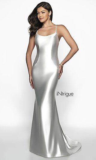 c93e467512 Long Satin Jersey Prom Dress with an Open Back