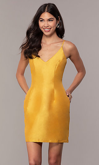 3330f5554a50 Yellow Prom Gowns and Short Yellow Dresses - PromGirl