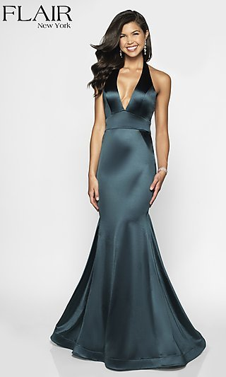 6b9cfec59d5 Long FLAIR Mermaid-Style Designer Prom Dress