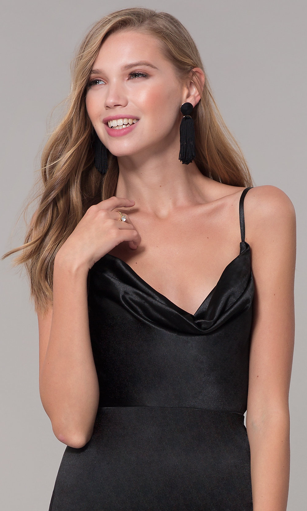 43b19ba7390ce ... satin black prom dress. Style: LUX-LD5134. Tap to expand