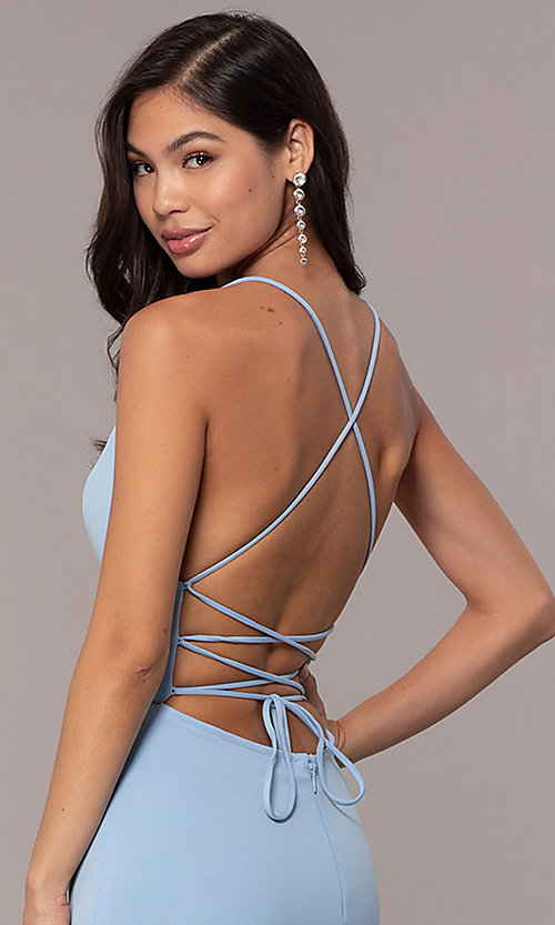 Image of backless corset JVNX by Jovani long prom dress. Style: JO-JVNX66729 Detail Image 2