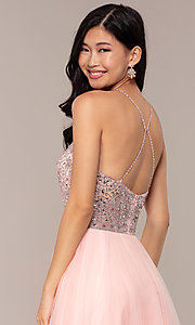 Image of JVNX by Jovani long tulle prom dress. Style: JO-JVNX67060 Detail Image 2
