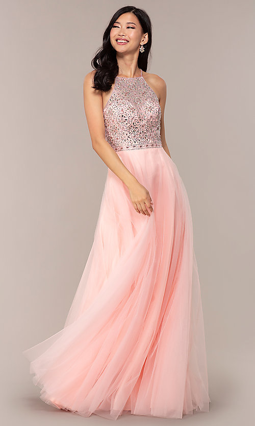Image of JVNX by Jovani long tulle prom dress. Style: JO-JVNX67060 Detail Image 3
