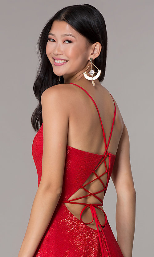 Image of long formal v-neck JVNX by Jovani prom dress. Style: JO-JVNX67517 Detail Image 2