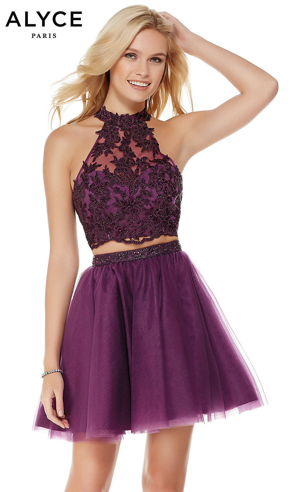 b8fa8d05d3 Short Two-Piece Alyce Babydoll Homecoming Dress