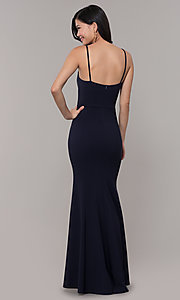 Image of long fitted simple sweetheart prom dress by Simply. Style: MCR-SD-2652 Back Image