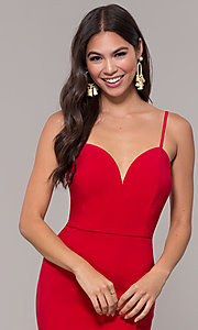 Image of long fitted simple sweetheart prom dress by Simply. Style: MCR-SD-2652 Detail Image 1