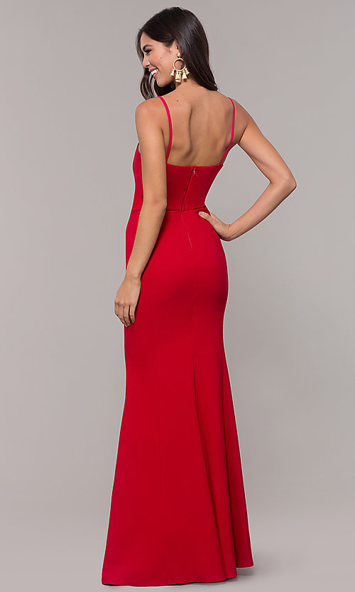 Image of long fitted simple sweetheart prom dress by Simply. Style: MCR-SD-2652 Detail Image 2