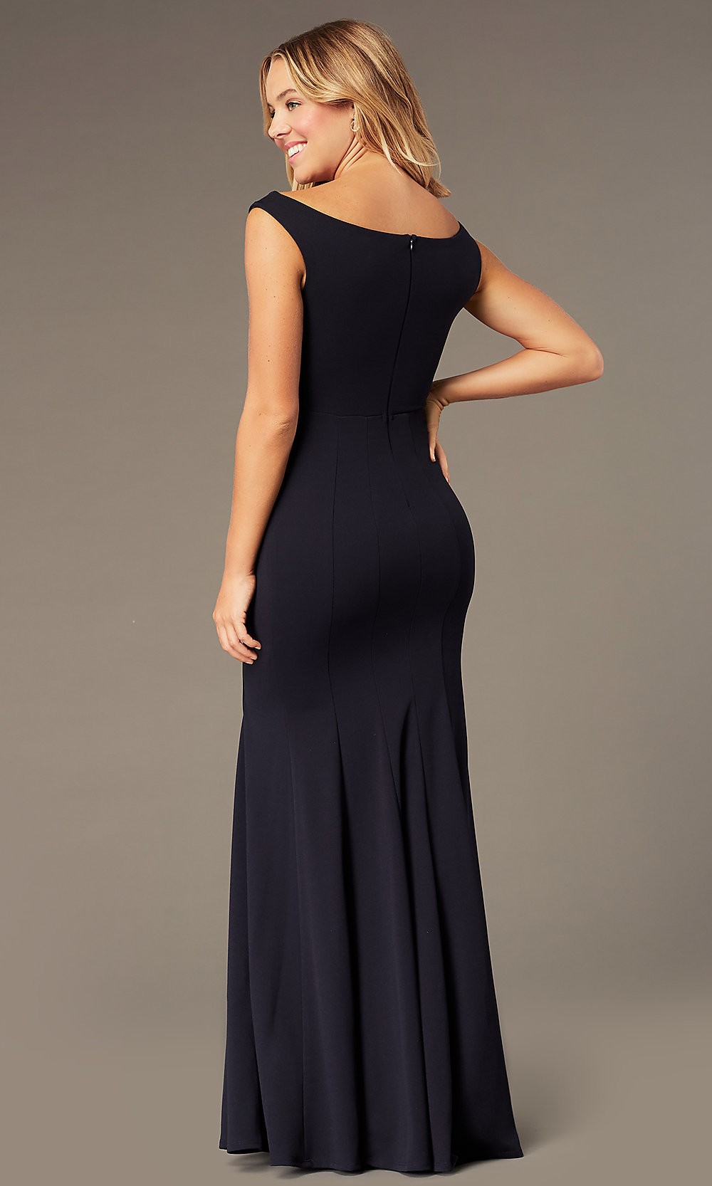 One-Shoulder Long-Sleeve Sequin Party Dress - PromGirl