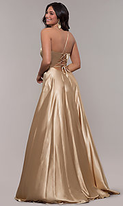 Image of long Faviana prom dress with back cut out. Style: FA-S10209 Detail Image 7