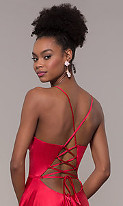 Image of long Faviana prom dress with back cut out. Style: FA-S10209 Detail Image 1
