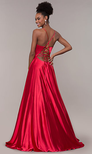 Long Faviana Prom Dress with Back Cut Out