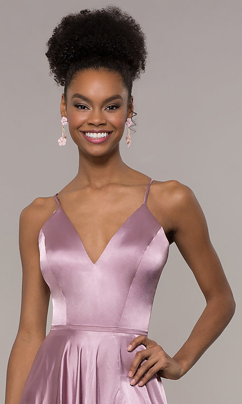 Image of long Faviana prom dress with back cut out. Style: FA-S10209 Detail Image 4