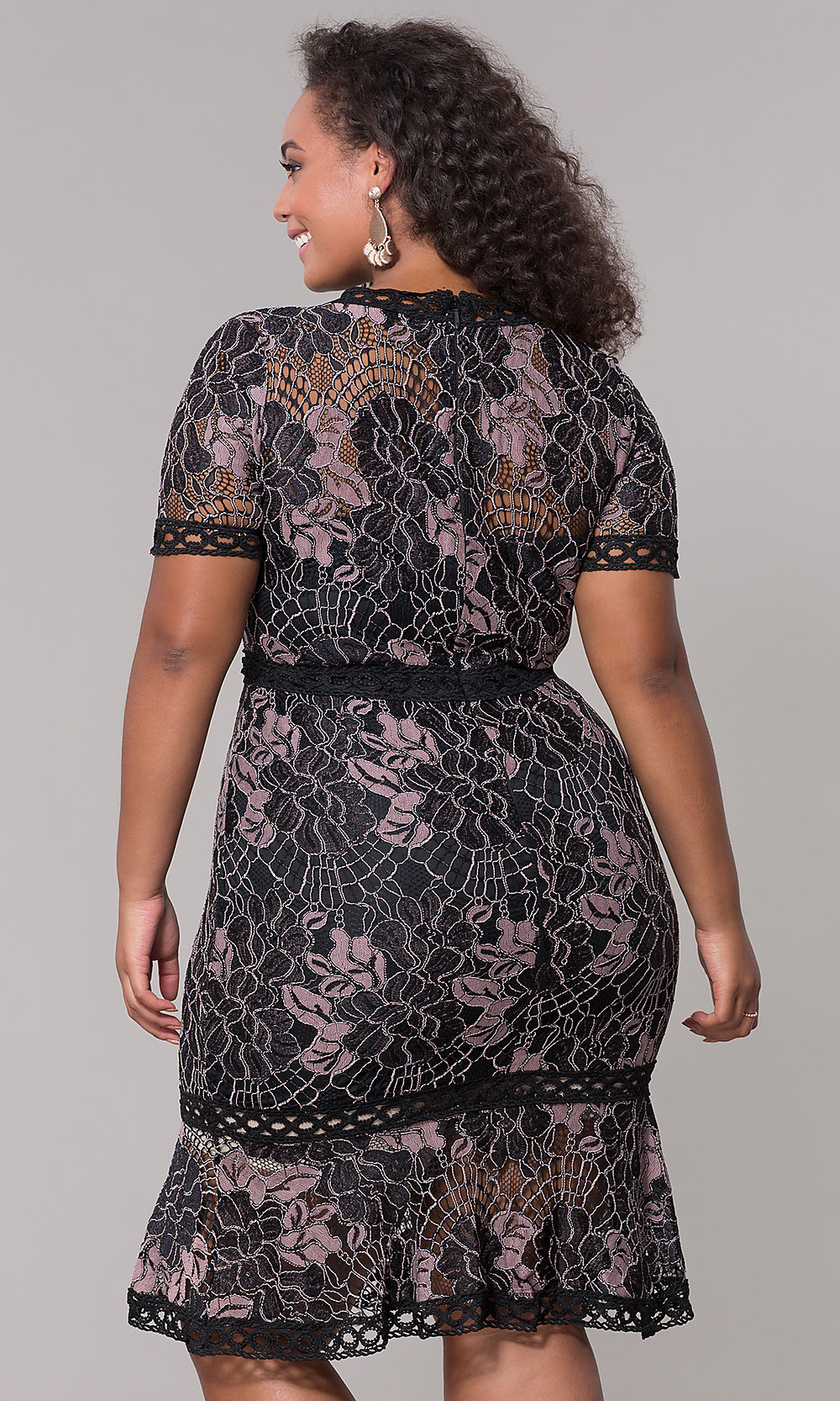 1bb952066d9 ... plus-size black lace wedding-guest party dress. Style  Tap to expand