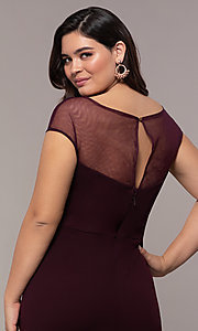 Image of long plus-size embroidered-bodice prom dress. Style: SOI-PM40092B51 Detail Image 2