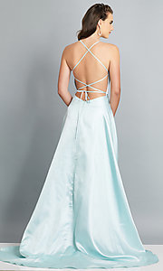 Image of long backless prom dress by Dave and Johnny. Style: DJ-A7956 Detail Image 5