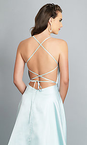 Image of long backless prom dress by Dave and Johnny. Style: DJ-A7956 Detail Image 7