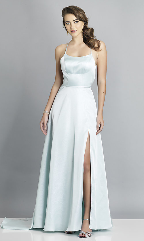 Image of long backless prom dress by Dave and Johnny. Style: DJ-A7956 Detail Image 4
