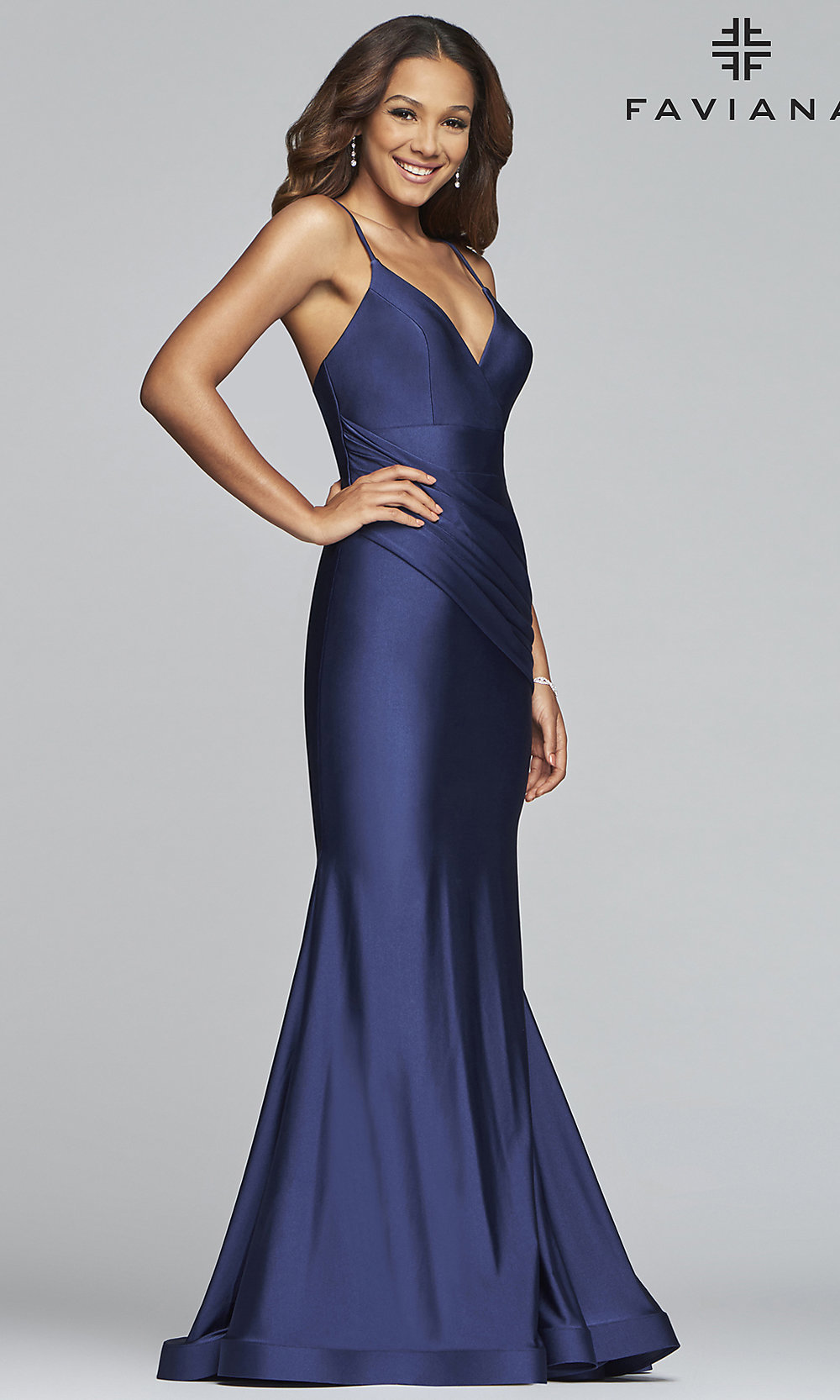 Long Mermaid Faviana Formal Prom Dress - PromGirl