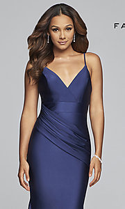 Image of long mermaid-style prom dress by Faviana. Style: FA-S10212 Detail Image 1