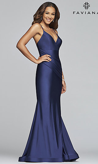 Long Mermaid-Style Prom Dress by Faviana