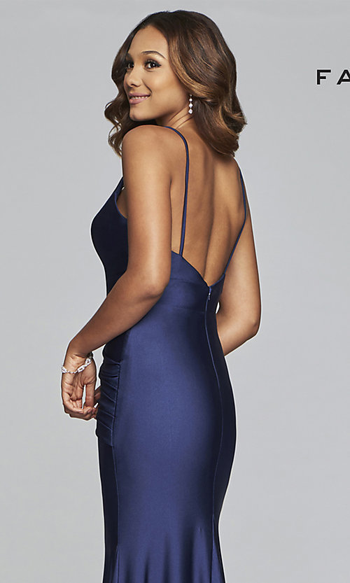 Image of long mermaid-style prom dress by Faviana. Style: FA-S10212 Detail Image 2