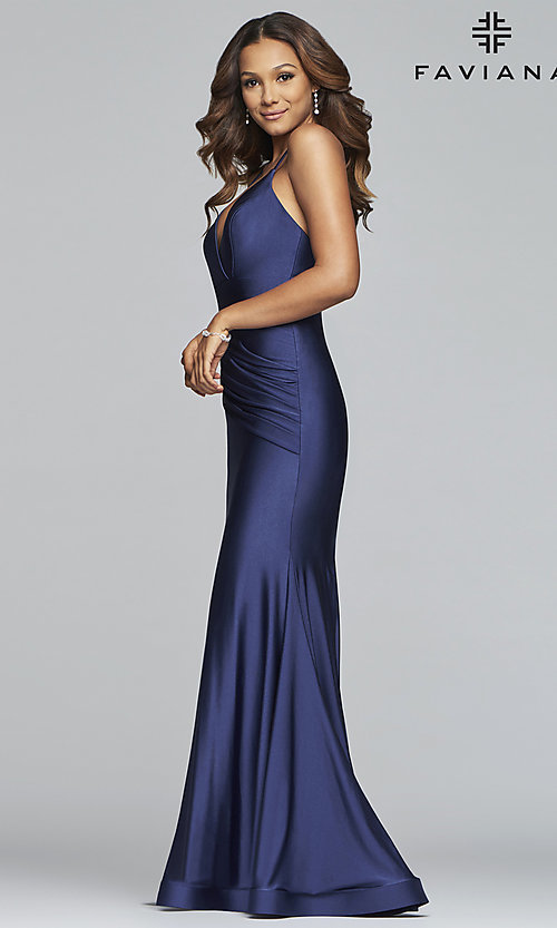 Image of long mermaid-style prom dress by Faviana. Style: FA-S10212 Detail Image 3