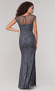 Image of grey glitter-embellished mother-of-the-bride dress. Style: IT-7133111 Back Image