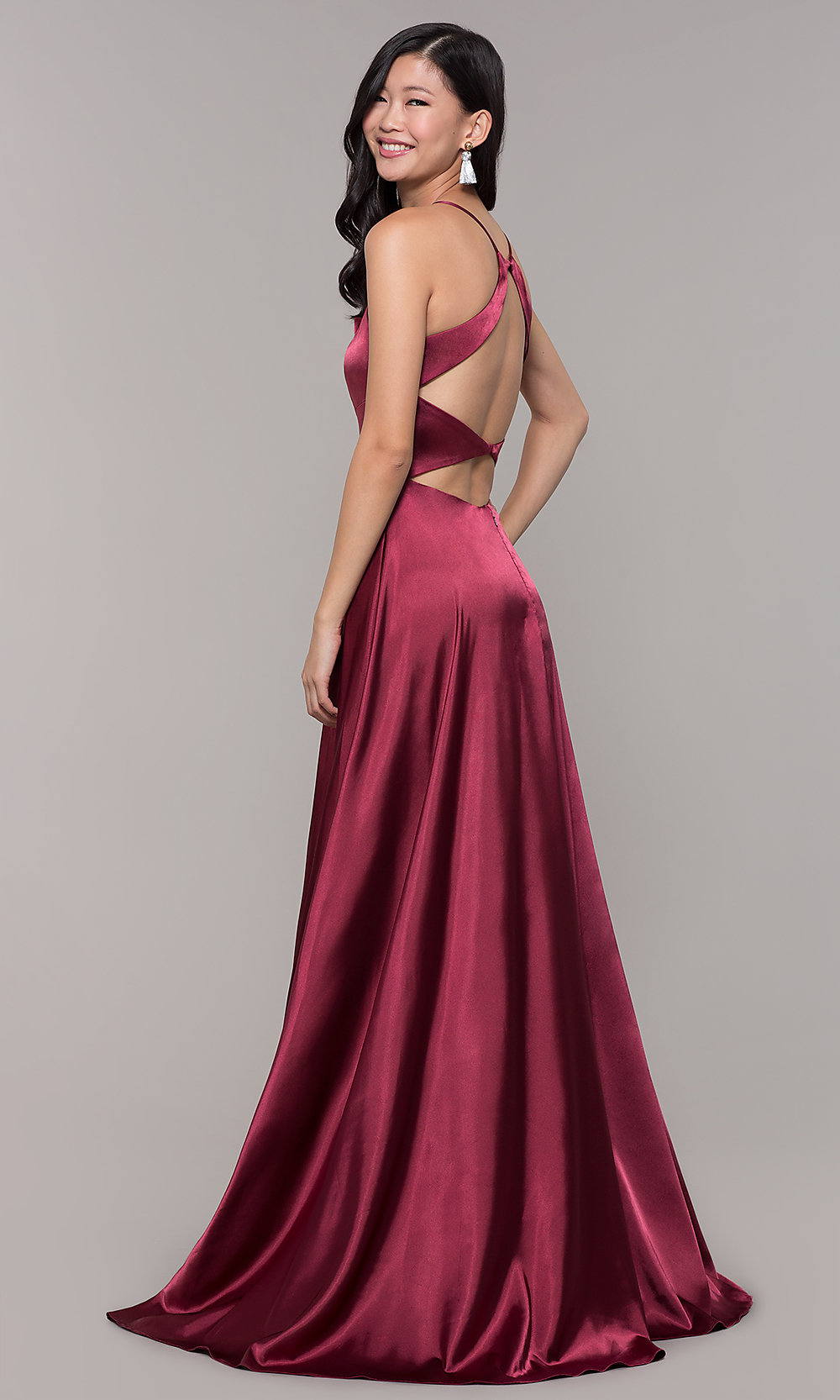 Open-Back Long Prom Designer Dress with