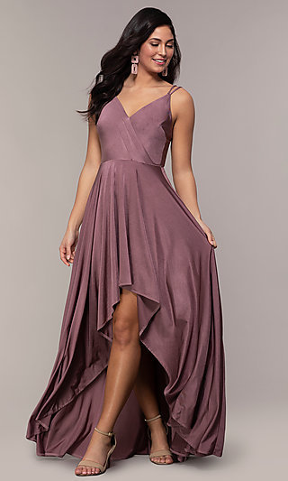 Long High-Low Prom Dress by PromGirl