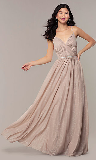 Cream Colored Chiffon Party Dress