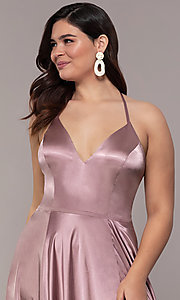 Image of long sleeveless Faviana plus-size prom dress. Style: FA-9469 Detail Image 1