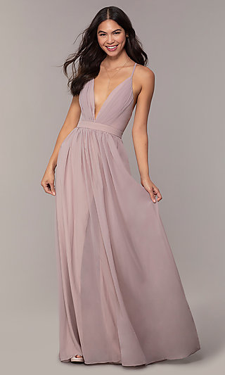 Chiffon Simply Prom Dress with Adjustable Straps