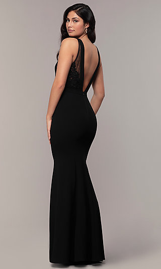 df2df3db1 Short Black Dresses, Long Black Prom Gowns - PromGirl
