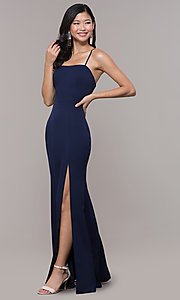 Image of long sleeveless corset-back prom dress by Simply. Style: LP-SD-27604 Detail Image 1