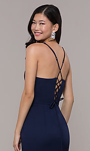Image of long sleeveless corset-back prom dress by Simply. Style: LP-SD-27604 Detail Image 4