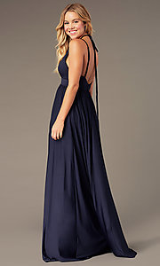 Image of v-neck long prom dress by Simply. Style: SJP-SD-AS108 Detail Image 6
