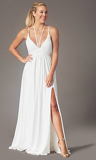 V-Neck Long Prom Dress by Simply