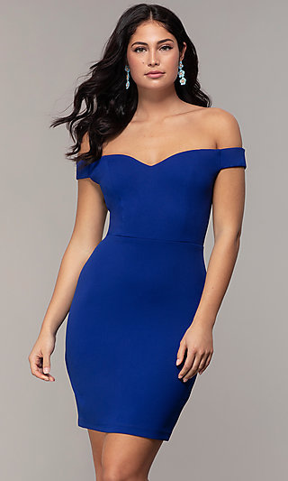 Short Sheath Off-the-Shoulder Party Dress
