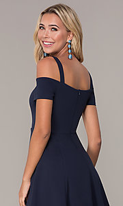 Image of short cold-shoulder homecoming dress by Simply. Style: MCR-SD-2529 Detail Image 7