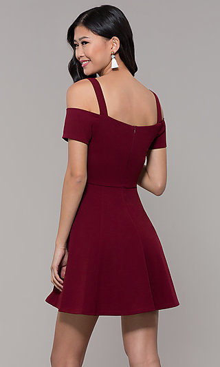 Short Cold-Shoulder Homecoming Dress by Simply