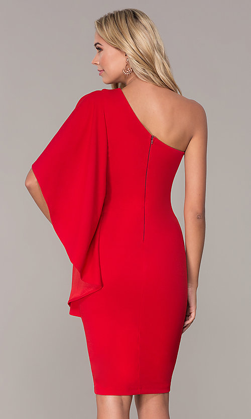 6ecd1048ce78 Tap to expand · Image of one-shoulder short red cocktail dress by Simply.  Style  MCR-
