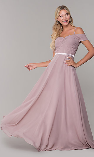 54c7a7bee57 Off-the-Shoulder Prom Dresses, Formal Gowns - PromGirl