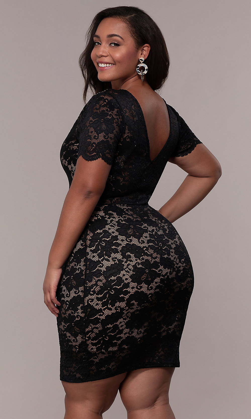 Cheap Black Plus Size Club Dresses