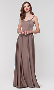Image of Kleinfeld formal bridesmaid dress with corset back. Style: KL-200151 Detail Image 5