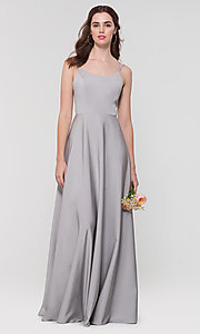Image of Kleinfeld formal bridesmaid dress with corset back. Style: KL-200151 Detail Image 1