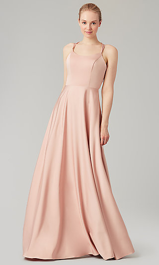 Kleinfeld Formal Bridesmaid Dress with Corset Back