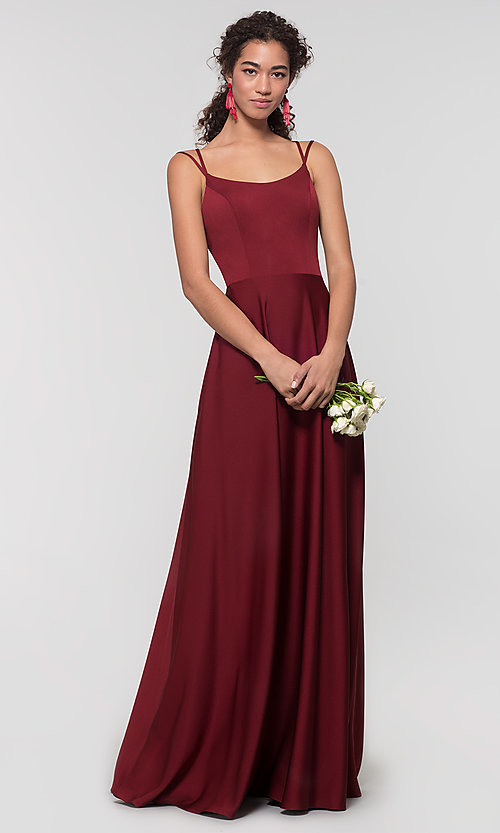 Image of Kleinfeld formal bridesmaid dress with corset back. Style: KL-200151 Detail Image 8