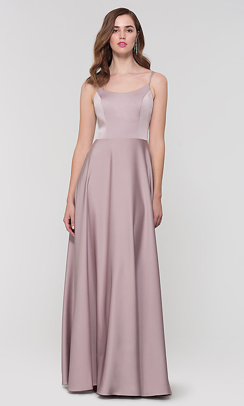 Image of Kleinfeld formal bridesmaid dress with corset back. Style: KL-200151 Detail Image 3